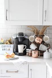 How To Create An Elegant Kitchen Coffee Bar For Fall Thats Perfect Family As Well