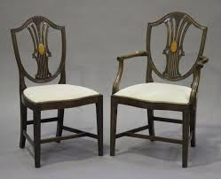 A Set Of Eight 20th Century Hepplewhite Style Mahogany ... 4 Hepplewhite Style Mahogany Yellow Floral Upholstered Ding Chairs Style Ding Table And Chairs Pair George Iii Mahogany Armchairs Antique Set Of 8 English Georgian 12 19th Century Elegant Mellow Edwardian Design Antiques World 79 Off Wood Hogan Side Chair Eight Late 18th Of