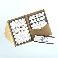 Marvelous Rustic Pocketfold Wedding Invitations