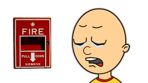Caillou Dies In The Bathtub by Caillou Pulls The Fire Alarm Grounded Youtube