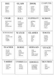 English Teaching Worksheets Taboo