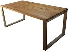 esstisch massivholz edelstahl serie munich tisch holz eiche massiv 140 x 80 cm holztisch edelstahl metall stahl premium esstisch design tisch