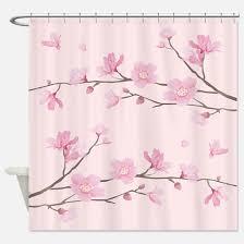 Cherry Blossom Bathroom Decor by Cherry Blossom Shower Curtains Cafepress