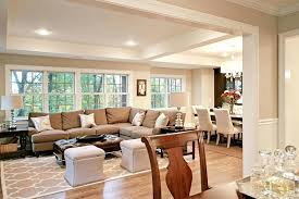 Living Room And Dining Together Basic Ranch Doubles Space Small Spaces