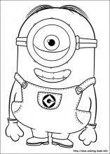 Coloring Page Php New Minion Book