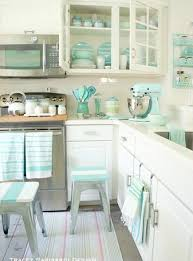 Heavenly Beach Cottage In Pastel By Tracey Rapisardi Kitchen WhiteWhite Appliances KitchenPastel DecorTurquoise