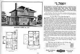 100 Modern Home Floorplans American Foursquare Catalog House Plans