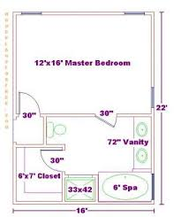 Master Bathroom 10 X 12 Narrow Suite Layout