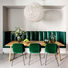 Example Of A Mid Sized Minimalist Gray Floor Dining Room Design In London With