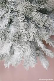 Christmas Tree Flocking Spray Can by How To Flock A Christmas Tree Via Oh Everything Handmade Llc