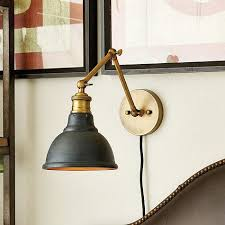 mcdonald black and brass wall sconce