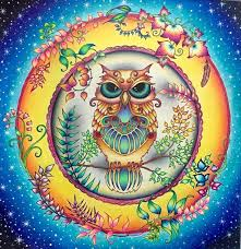 Owl From Enchanted Forest Johannabasford Enchantedforestcoloringbook Enchantedforest Colorful Coloring