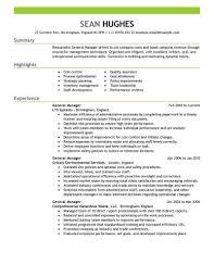 Resume Examples General ResumeExamples