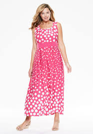 dress with polka dots in maxi length plus size maxi dresses