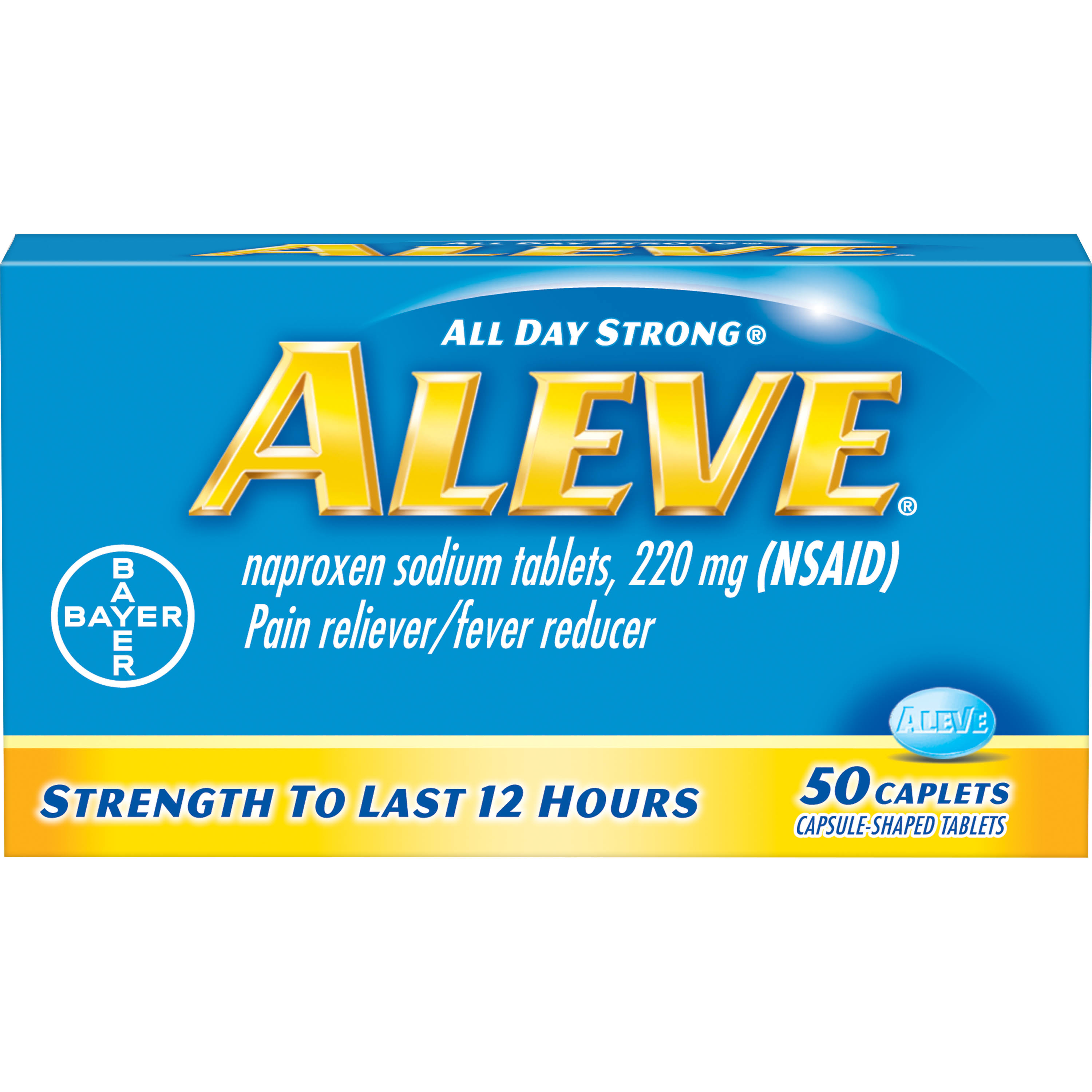 Aleve Pain Reliever/Fever Reducer - 50 caplets, 220mg