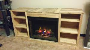 DIY Pallet Fireplace With TV Stand