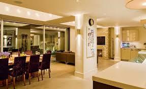 Kitchen Open Plan Lighting Scheme