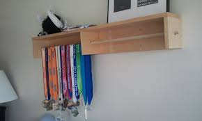 IKEA Hackers CD Rack Turned Cheer Medal Holder Paint It Girly