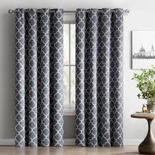 geometric pattern curtains canada 108 inch 119 inch curtains drapes you ll wayfair ca