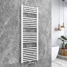 bath mann heizkörper badheizkörper handtuchhalter für heizung handtuchtrockner bad mittelanschluss handtuchwärmer horizontal 120x40cm weiß