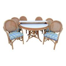 Vintage Brown Jordan Label Rattan And Cane Dining Set 6 ... Safavieh Tana Grey Rattan Ding Chair Set Of Seaa Chairs Baker Fniture Milling Road Chest Table Logo Of 4 Rattan Ding Chairs By Gian Franco Legler 6 Soria Marvelous Antique Value White Floral Vintage Bamboo Round And At Real Mcguire Cracked Ice Six Brown Reading Super Cute Set In Very Nice Black Metal Farmers Argos Room
