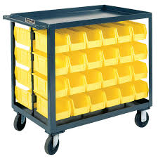 Akro Mils 26 Drawer Storage Cabinet by 36x18x25 416 Wp97595 Mobile Bin Cart Grainger Industrial Supply