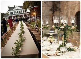Use Ivy Vines As Wedding Reception Flowers