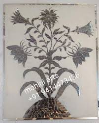 100 Flannel Flower Glass Mohini Inlay Work Udaipur City Inlay Manufacturers In