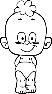 Baby Face Coloring Page