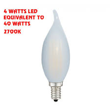 4 watts led 40 watts chandelier frosted tip led bulb 55071 ul