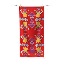 Geometric Design Beach Towel