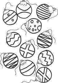 Christmas Ornaments Coloring Sheets For Tree In Pages Printable