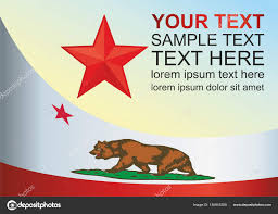 Flag Of The State California Template For Award An Official Document With Vector By SaliVit