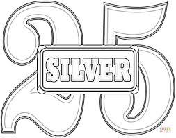 Click The Anniversary 25 Silver Wedding Coloring