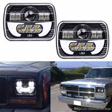 100 Led Lights For Trucks Headlights 2019 Black Projector 7x6 LED Headlight HID Light Bulbs Beam Headlamp
