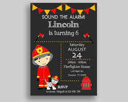 Fireman Birthday Invitation Fireman Birthday Party Invitation ...