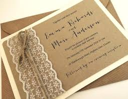 Shabby Chic Wedding Invites 1 Vintage Rustic Lace Invitation And Sample