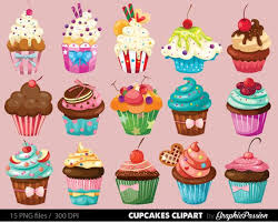 Our Cupcakes clipart set es with 15 PNG files with transparent backgrounds These are easy
