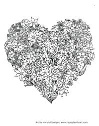 Valentines Day Holiday Coloring Pages For Adults Hearts Valentine Pdf Full Size