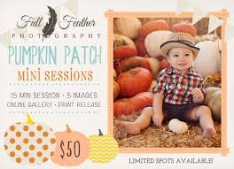 Pumpkin Patch Orlando Area by Now Booking Pumpkin Patch Mini Sessions Full Feather Photography