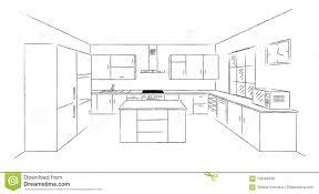 Download Kitchen Sketch 3d Stock Vector Illustration Of Dishwasher