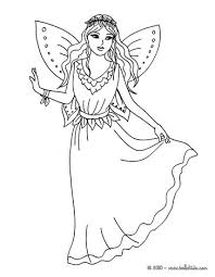 Fairy Dress Coloring Page