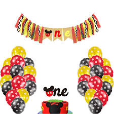 BOODANAO Mickey Mouse Kids First Birthday Highchair Banner Mickey Mouse  Happy Birthday Banner Decorations Kit,Mickey First Birthday Decorations Kit  ... Minnie Mouse Room Diy Decor Hlights Along The Way Amazoncom Disneys Mickey First Birthday Highchair High Chair Banner Modern Decoration How To Make A With Free Img_3670 Harlans First Birthday In 2019 Mouse Inspired Party Supplies Sweet Pea Parties Table Balloon Arch Beautiful Decor Piece For Parties Decorating Kit Baby 1st Disney