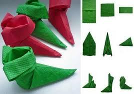 serviette de noel en papier pliage de serviette facile pour noel on decoration d interieur