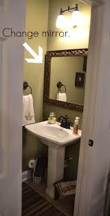 Small Half Bathroom Decorating Ideas by Half Bathroom Decorating Ideas Green And Cream Wall Painting As