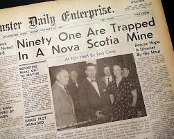 Springhill Mining Disaster Nova Scotia Mine Oct 23 1958 In Praise Of