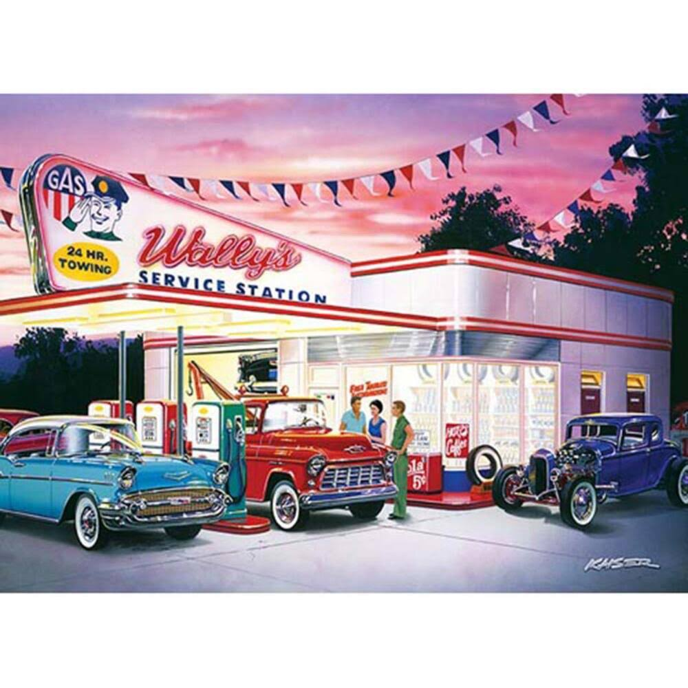 Master Pieces Wally's Service Station Jigsaw Puzzle - 1000pcs