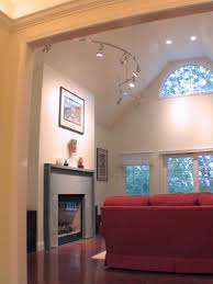 vaulted ceiling lighting with modern layering light vaulted