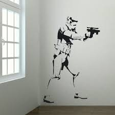 Wall Mural Decals Uk by Extra Large Storm Trooper Star Wars Life Size Wall Art Big Mural