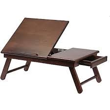 Padded Lap Desk With Light by Winsome Flip Top Lap Desk With Drawer And Foldable Legs Antique
